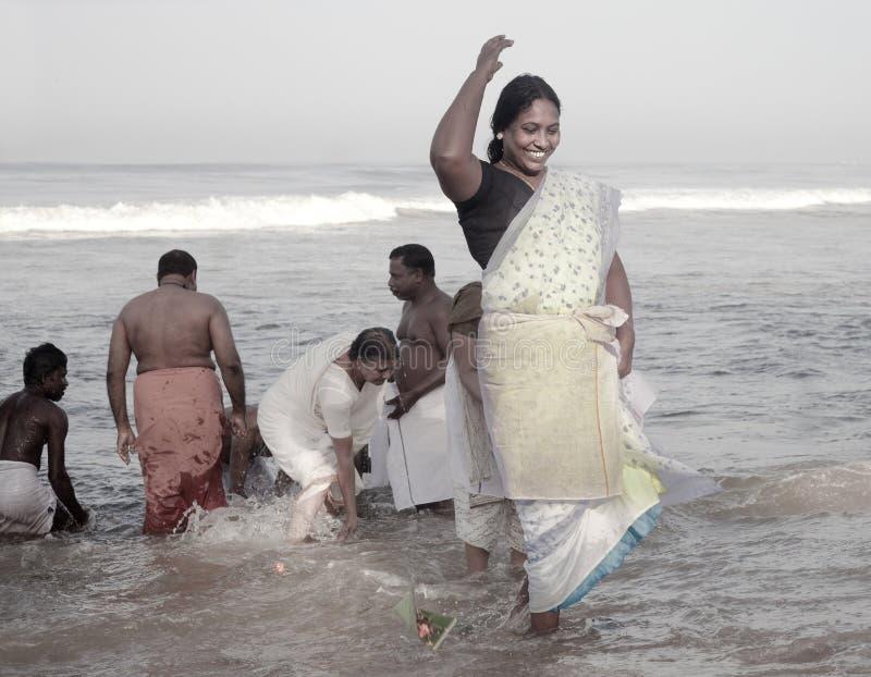 KERALA - 30 DE JULIO: Un peregrino hindú fotografía de archivo libre de regalías