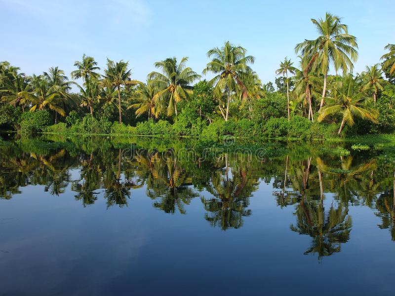 Download Kerala Backwaters, India stock image. Image of house - 27889287