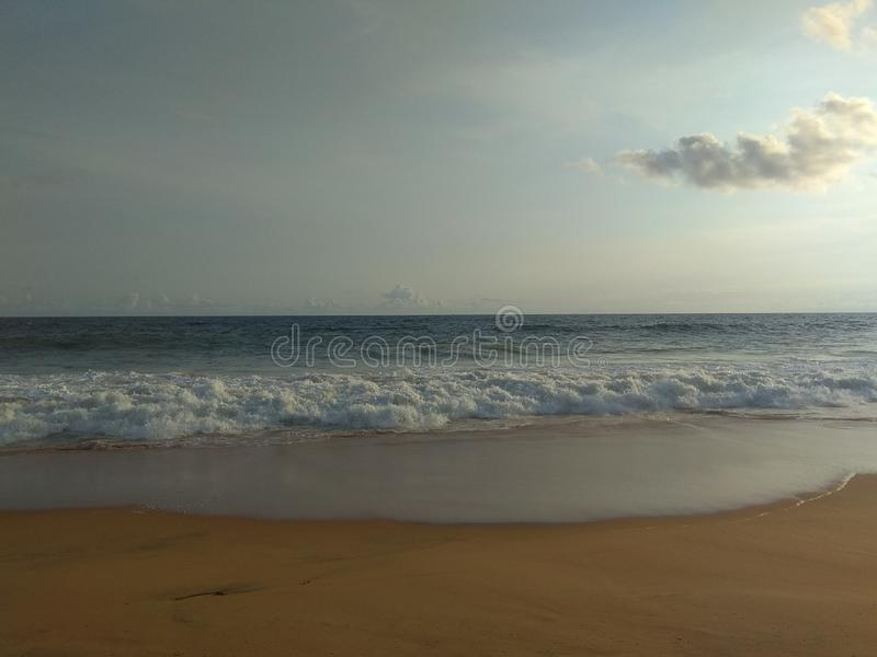 Kerala beaches- en av mest ren i Indien arkivbilder