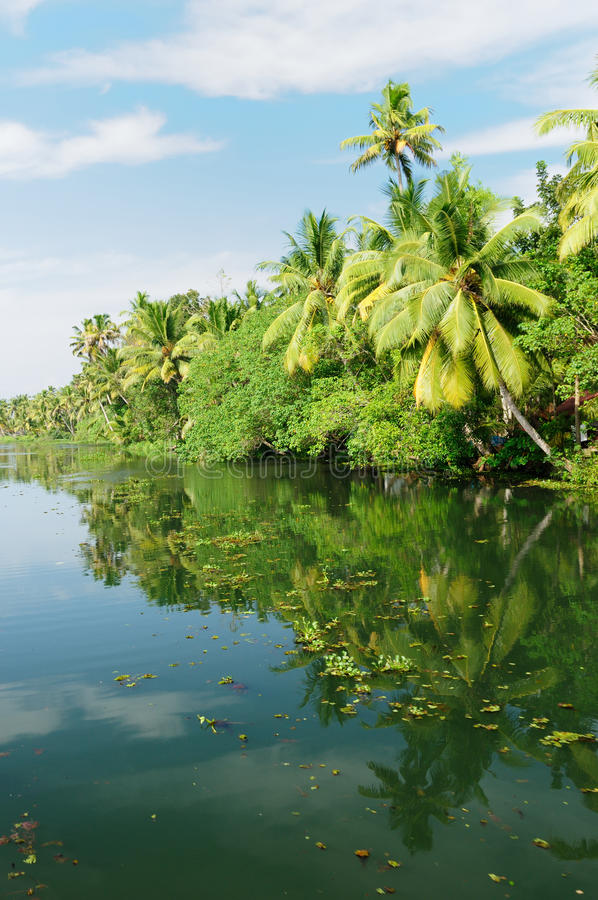 Kerala canal royalty free stock photo