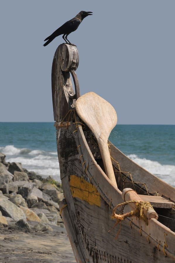 Kerala-Fischerboot lizenzfreie stockbilder