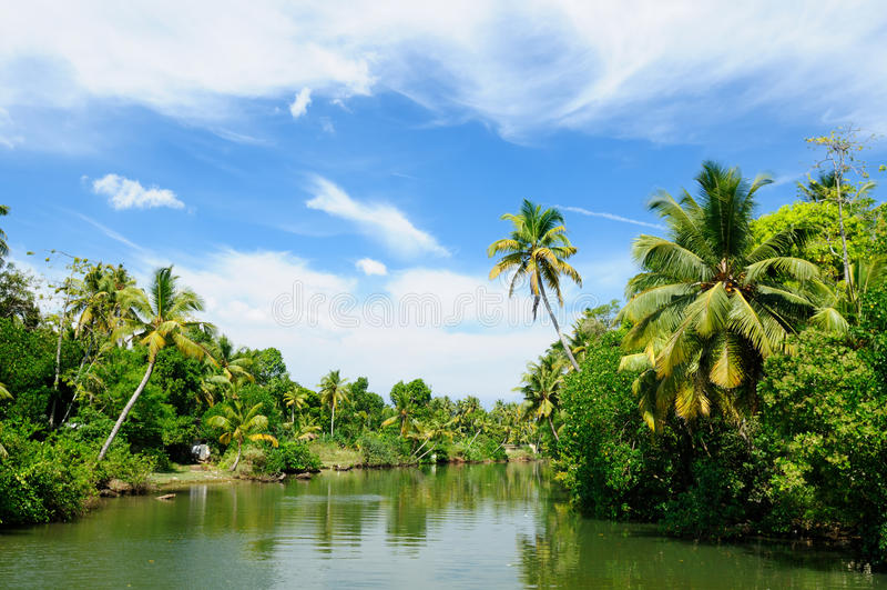 Kerala-Kanal lizenzfreie stockfotos