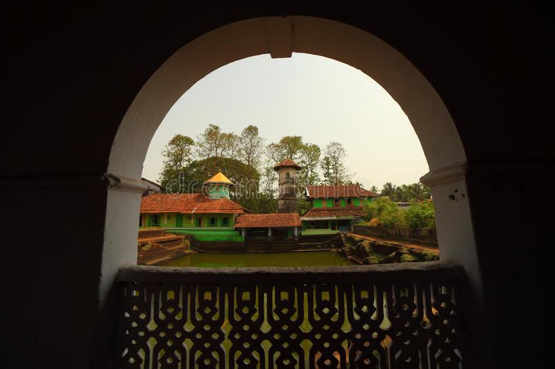 Kerala Old traditional Mosque. Valapattanam, Kannur, This mosque has one of the oldest existing minarets in Kerala and has the graves of Abubakr ibn Muhammad stock image