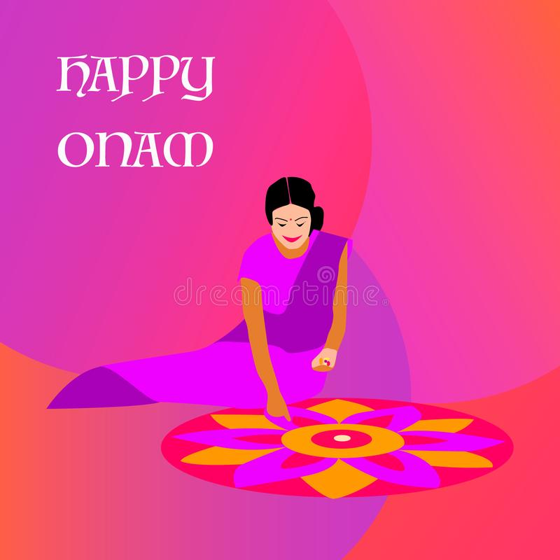 Kerala-onam Festivalillustration stock abbildung