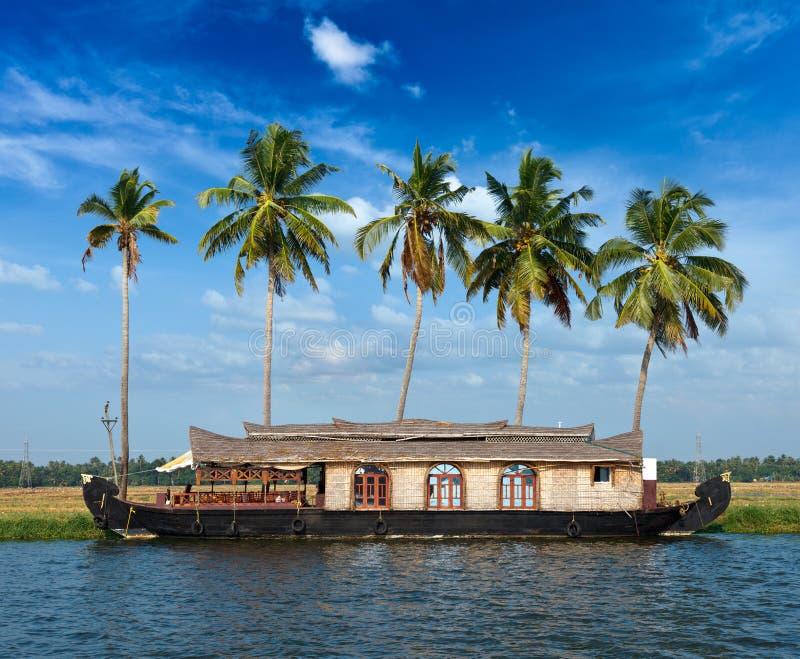 Kerala paradise on houseboat stock image