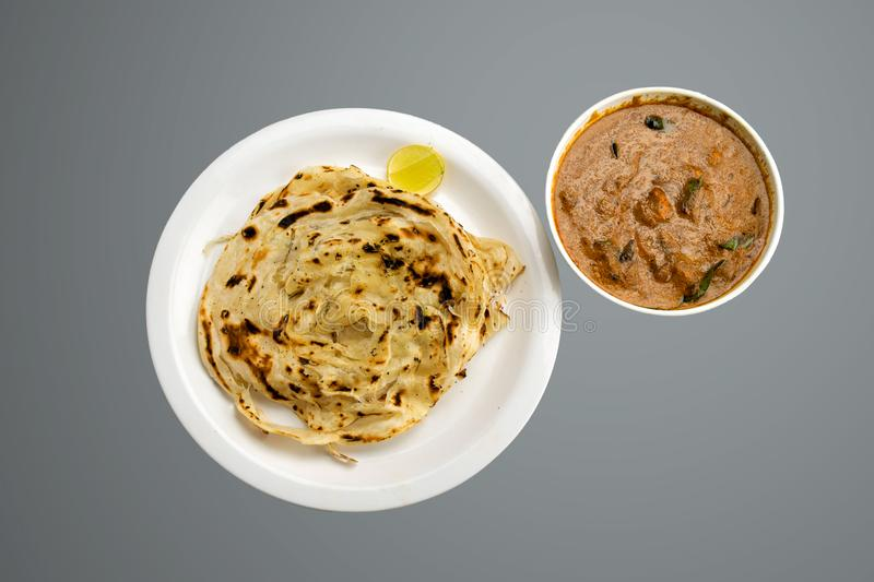 Kerala paratha with paneer butter masala food photography stock images