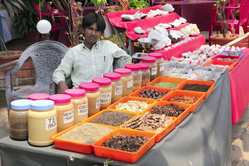 Kerala pikantności kram obraz royalty free