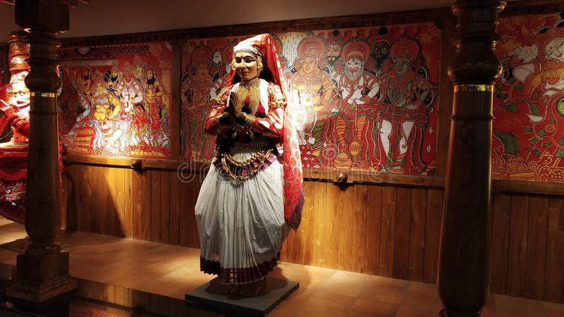 Kerala południowy Indiański taniec Kathakali zdjęcie royalty free