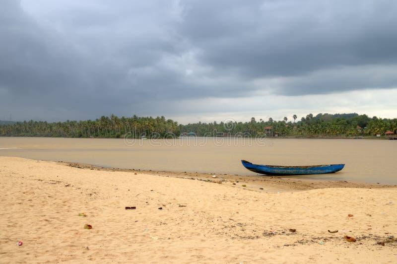 Kerala-Stauwasser. Kerala, Indien stockfotografie