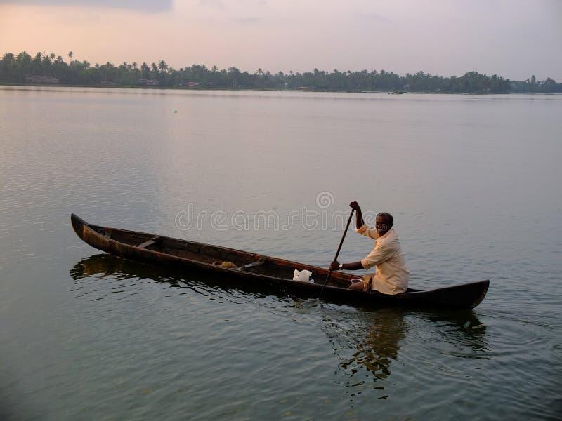 Kerala Stojące wody, India zdjęcie stock