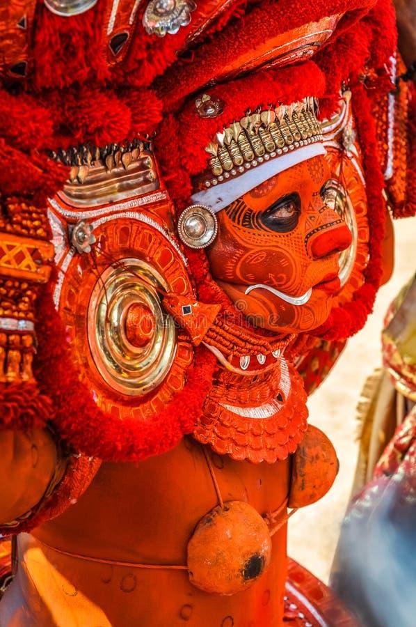 Keralas Theyyam en Kerala imagenes de archivo