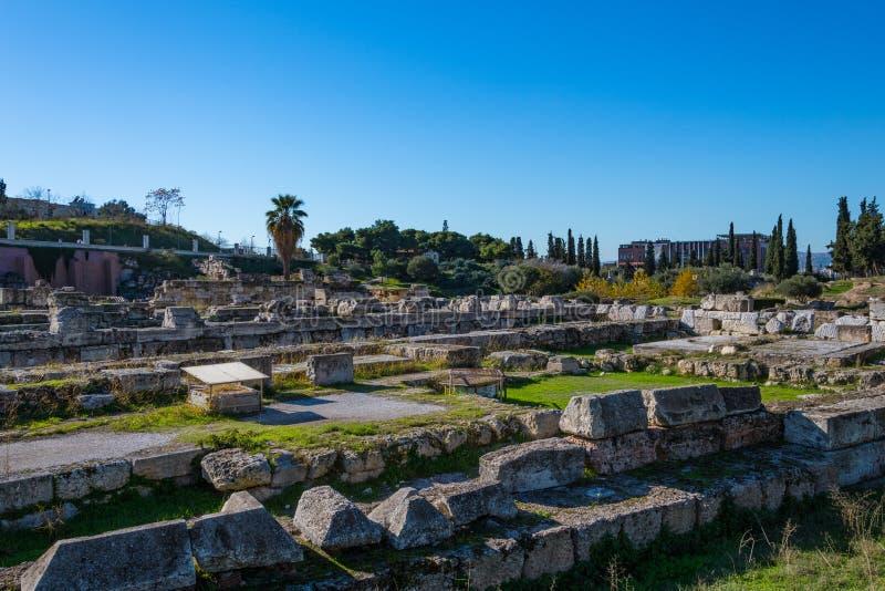 Kerameikos, the cemetery of ancient Athens in Greece. stock photos