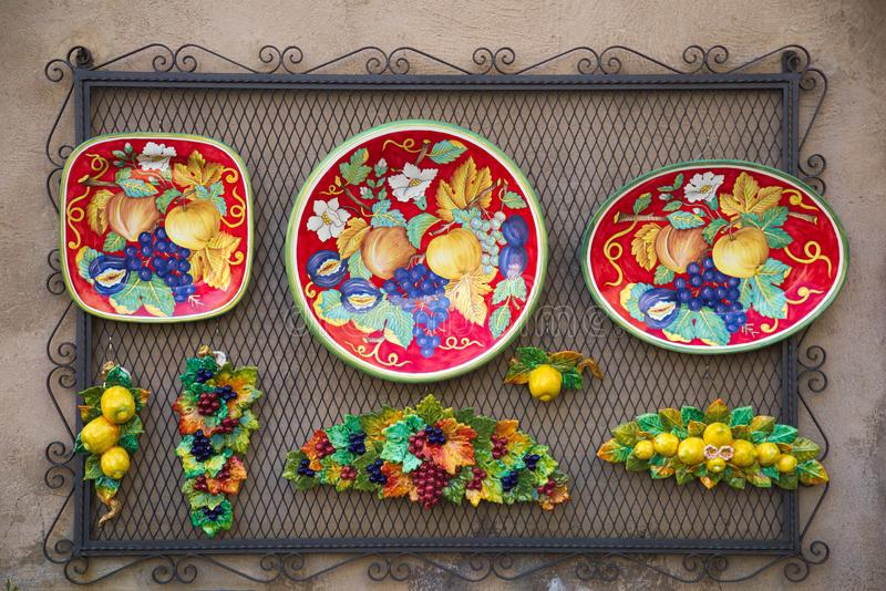 Keramik der traditionellen Kunst, orvieto, terni, Umbrien Italien, Europa lizenzfreie stockbilder