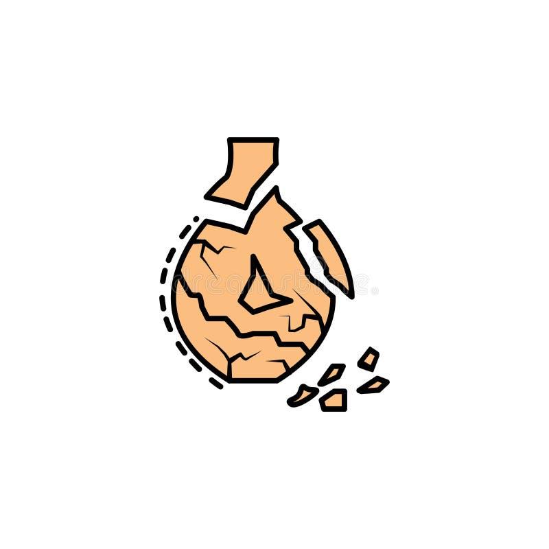 keramik som är bruten, krukmakeri, prydnadsymbol Beståndsdel av historiefärgsymbolen för mobila begrepps- och rengöringsdukapps F royaltyfri illustrationer