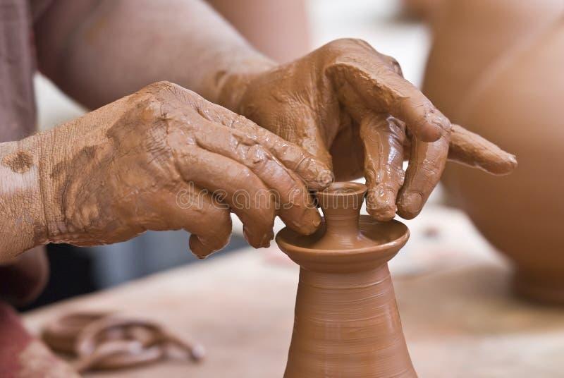 keramikerarbete royaltyfri foto