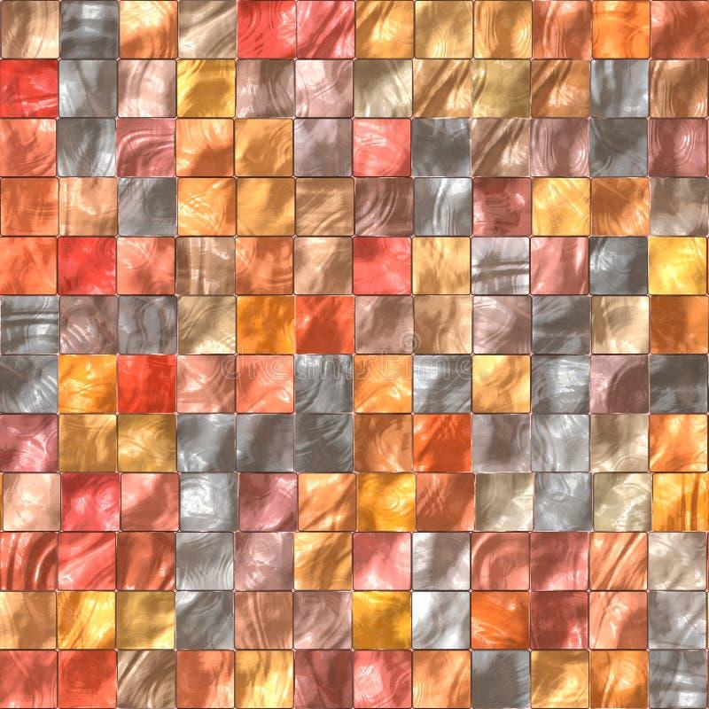 Keramikziegel wärmen Farben stock abbildung