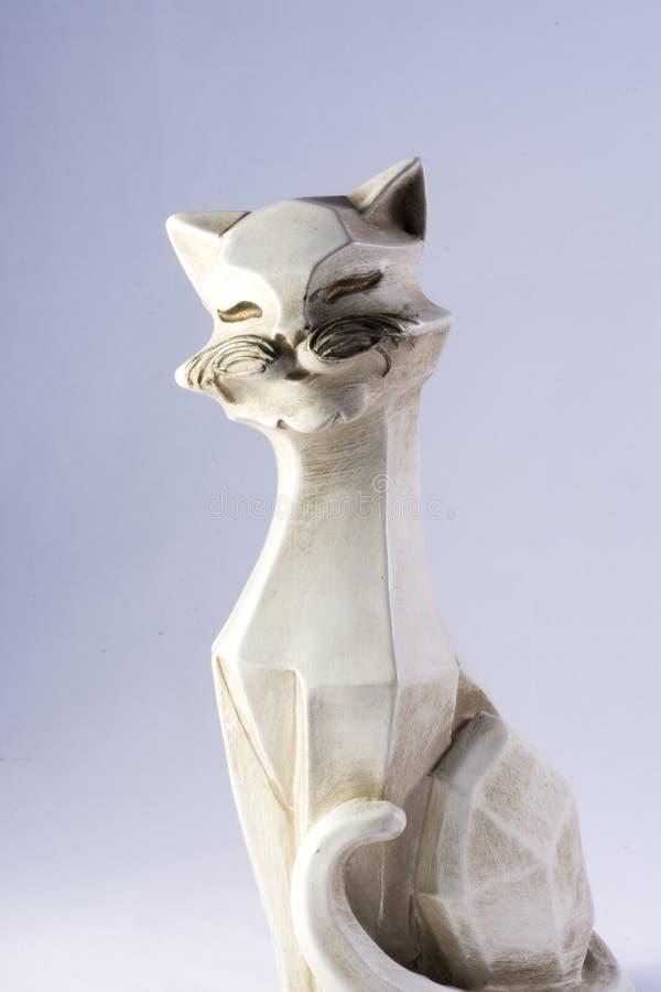 Keramische Figürchen einer Katze lizenzfreies stockfoto