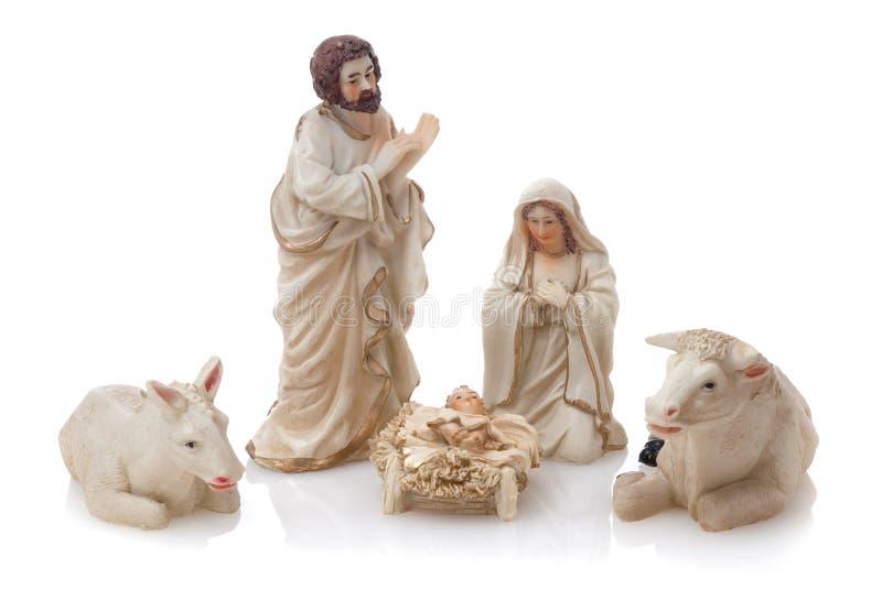 Keramische Geburt Christiszene stockfotografie