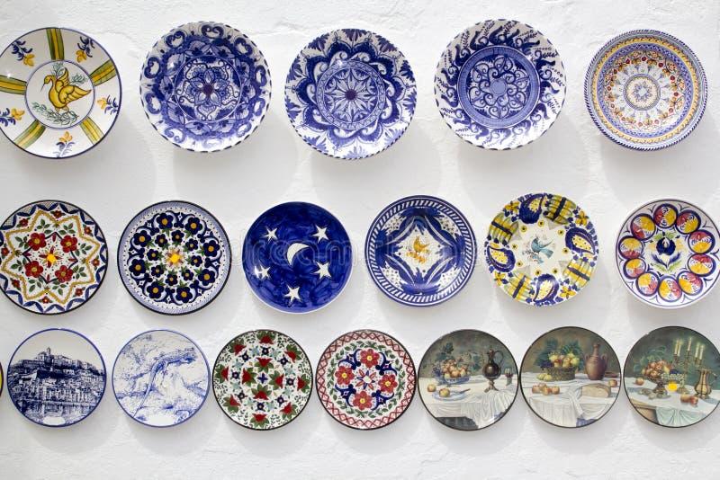 Keramische Plattenfertigkeiten MittelmeerIbiza stockfotografie