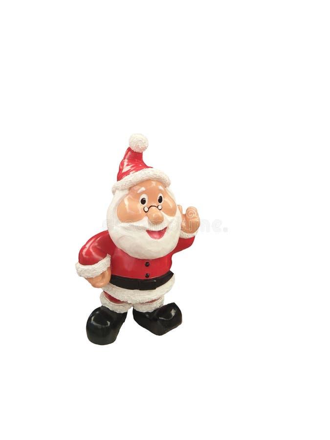 Keramische Santa Claus-Statue stockfoto
