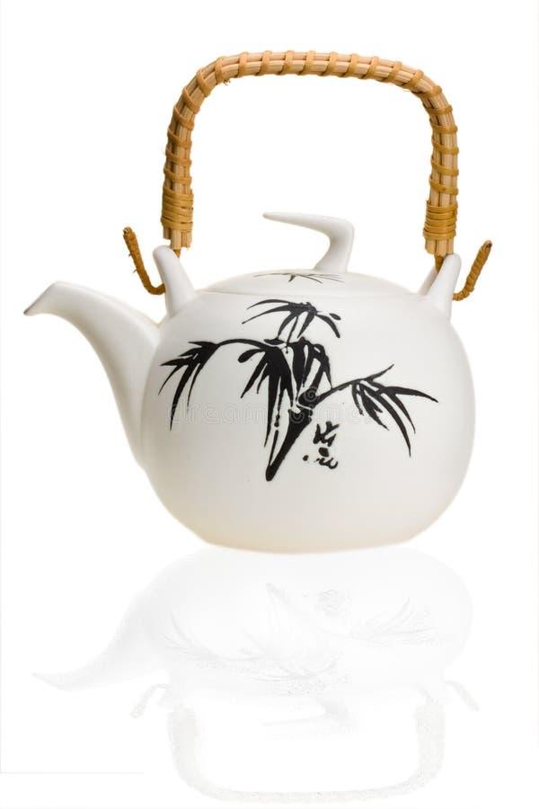 Keramische Teekanne lizenzfreie stockfotos