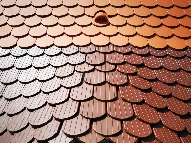 Keramische tegel - de textuur van de daktegel stock foto