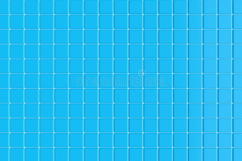 Keramische tegels voor de pool het 3d teruggeven stock illustratie