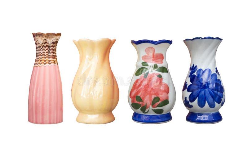 Keramische Vasenfarbe lokalisiert lizenzfreie stockbilder