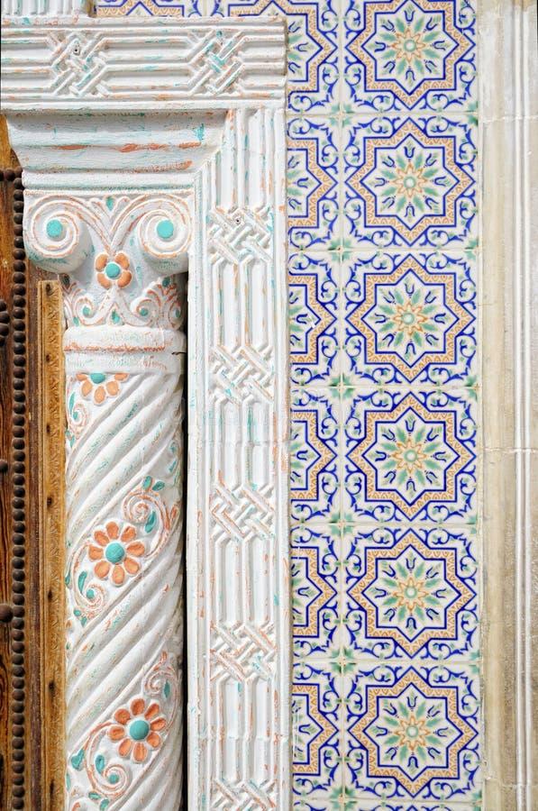 Keramische Wanddekoration der arabischen Art lizenzfreies stockbild