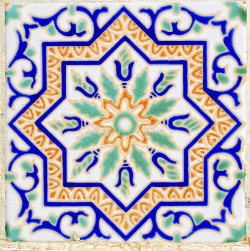 Keramische Wanddekoration der arabischen Art stockbilder