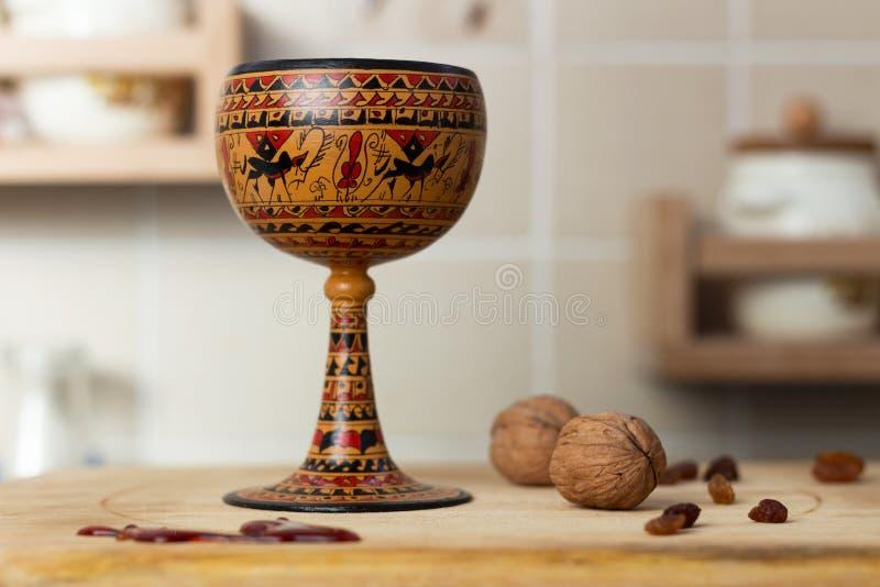 Keramischer Wein-Becher stockfotografie