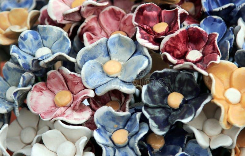 keramisk blomma royaltyfri fotografi