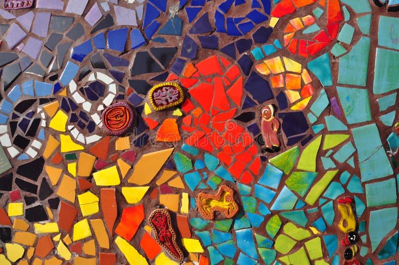 keramisk färgrik mosaiktegelplatta royaltyfri bild