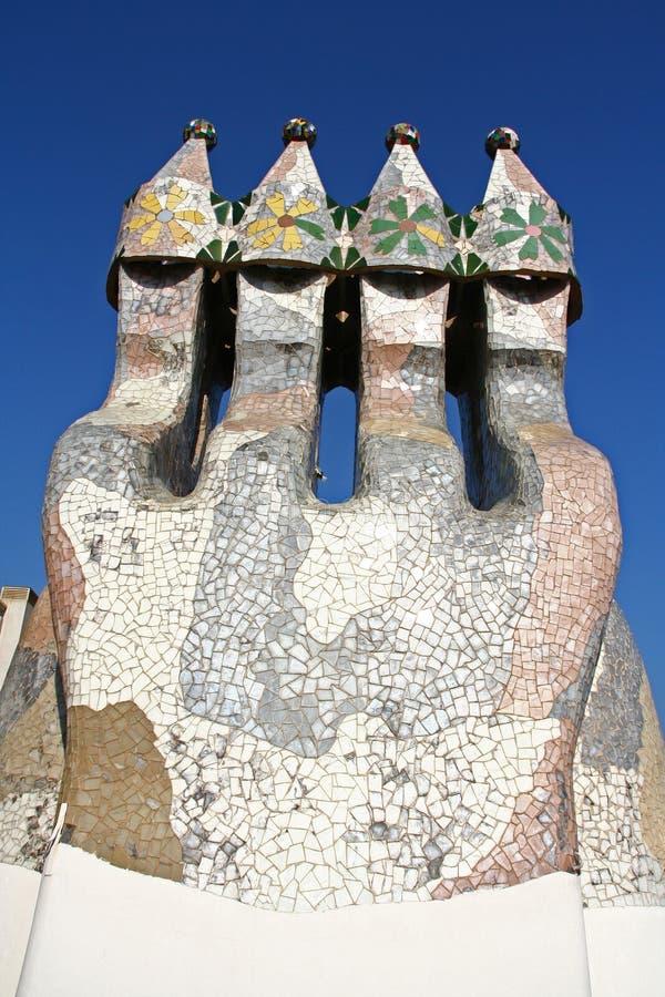 Keramisk lampglas av casaen Batlo royaltyfri bild