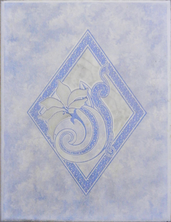 Keramisk tegelplatta för blå Highlighter royaltyfria bilder