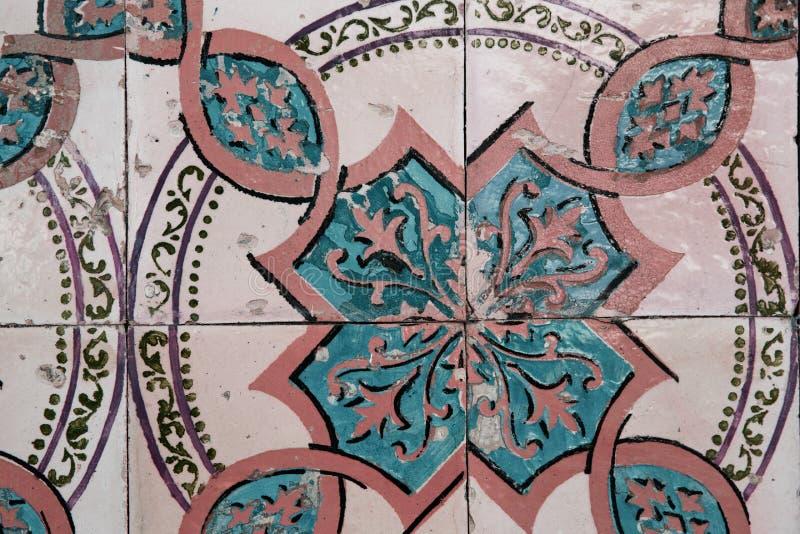 Keramisk tegelplatta för tappning royaltyfri foto