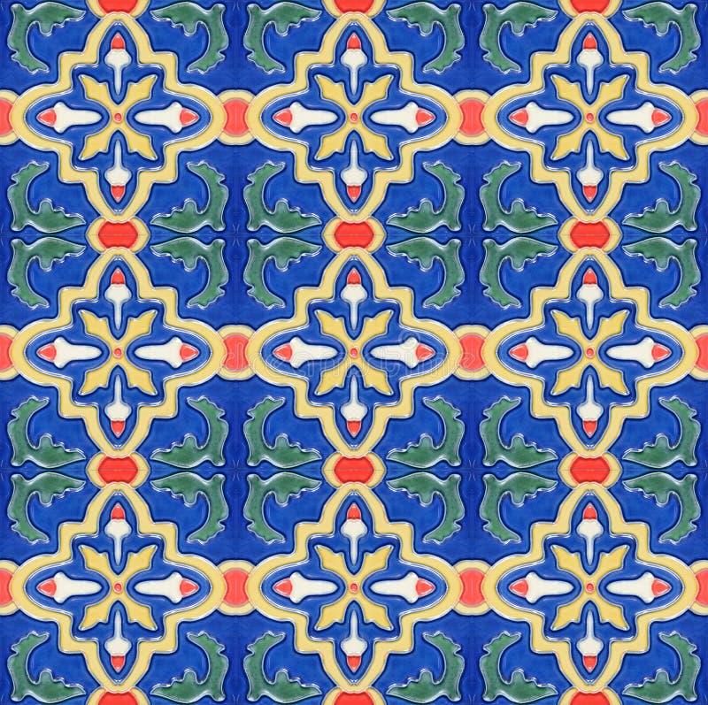 Keramisk tegelplatta Spanich för marockansk stiltappning arkivfoton