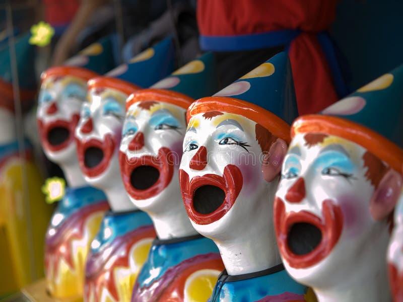keramiska clowner royaltyfria bilder