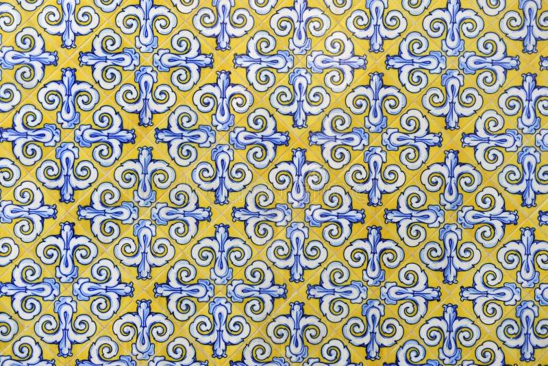 Keramiska väggtegelplattor i Valencia, Spanien arkivbild