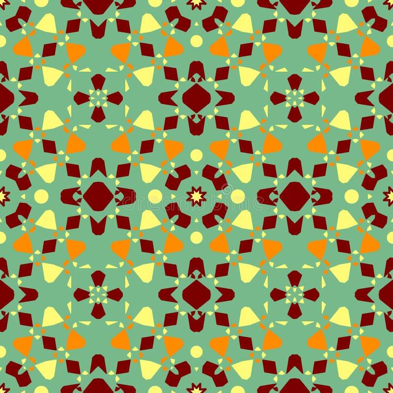 Keramiskt bel?gga med tegel texturerar Ursnygg sömlös patchworkmodell från färgrika prydnader för keramiska tegelplattor vektor illustrationer