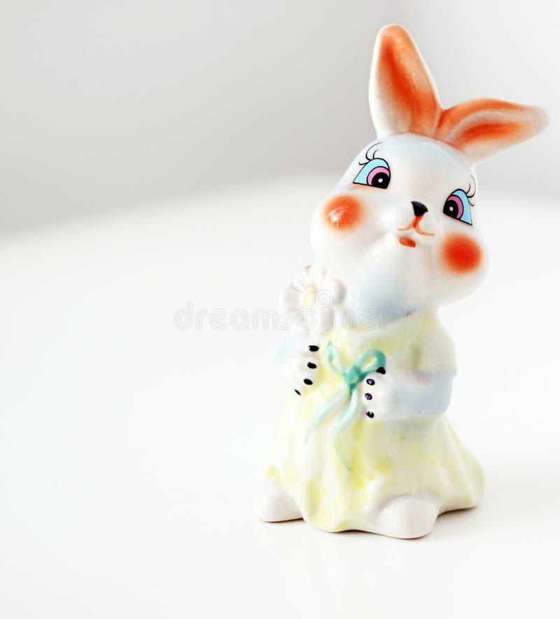 Keramiskt tecknad filmdiagram kanin fotografering för bildbyråer
