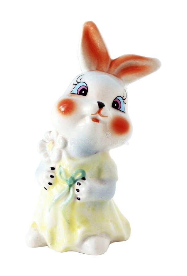 Keramiskt tecknad filmdiagram kanin arkivfoto