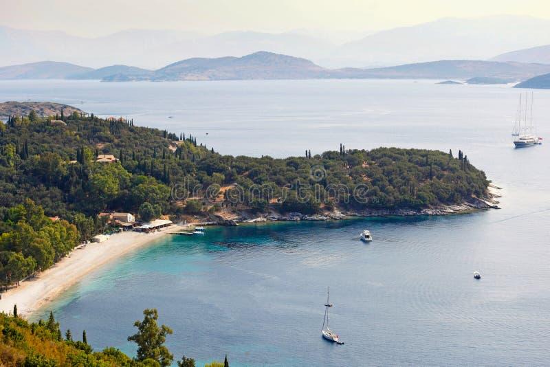 Kerasia em Corfu, Grécia foto de stock royalty free