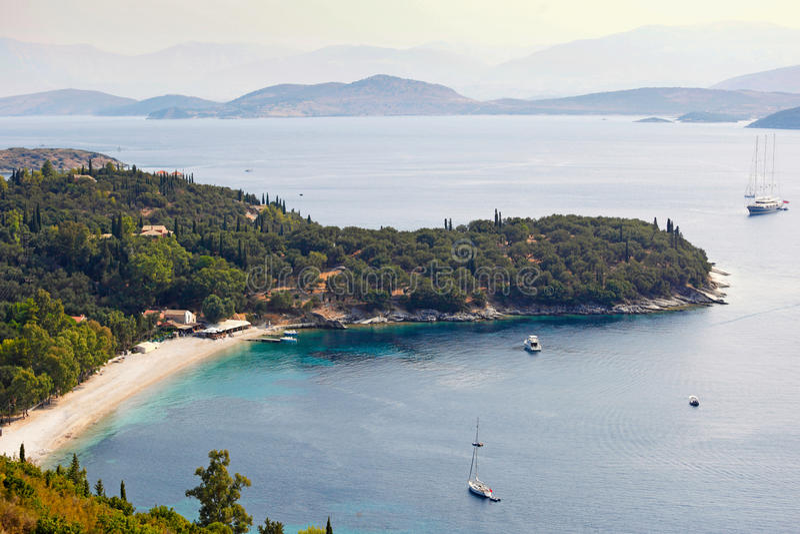 Kerasia in Korfu, Griekenland royalty-vrije stock foto