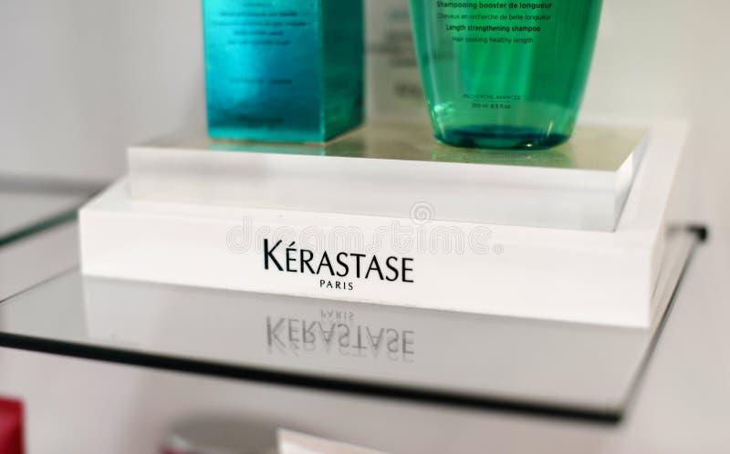 Kerastase профессионального макияжа loreal Французские роскошные косметики для тела, волос и ухода за лицом стоковая фотография