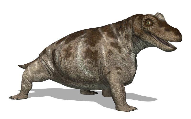 Keratocephalus Dinosaur. The Keratocephalus dinosaur lived during the Middle Permian Period - 3D render vector illustration