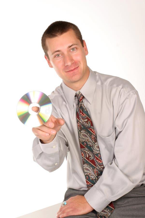 Kerel met CD royalty-vrije stock foto
