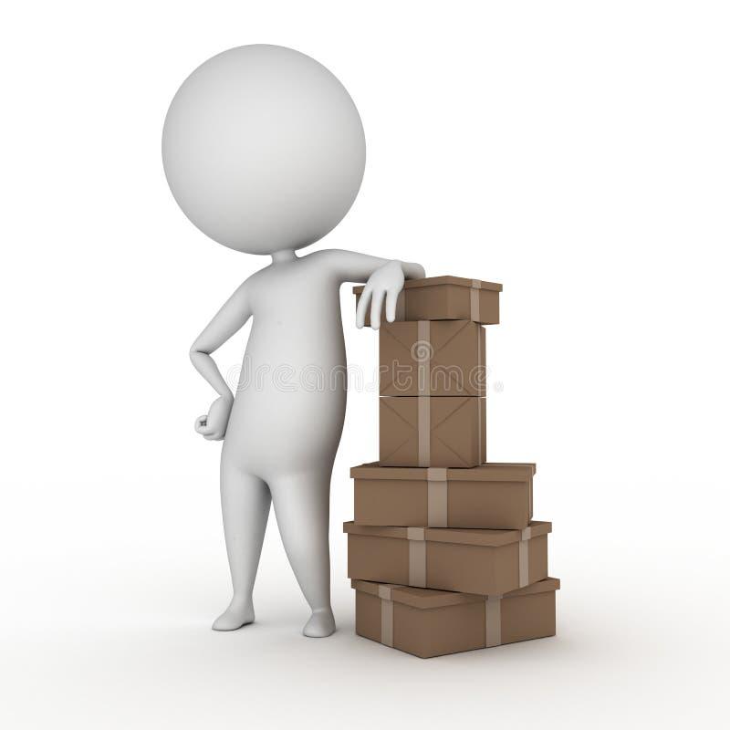 Kerel Met Pakketten Stock Afbeelding