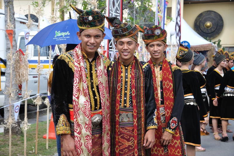 Kereltje van de inwoner van Kadazan Dusun Lotud van Sabah Malaysia Borneo royalty-vrije stock foto's