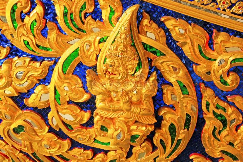 Kerf van Koninklijke Aak in Nationaal Museum van Koninklijke Aken, Bangkok, Thailand royalty-vrije stock foto's